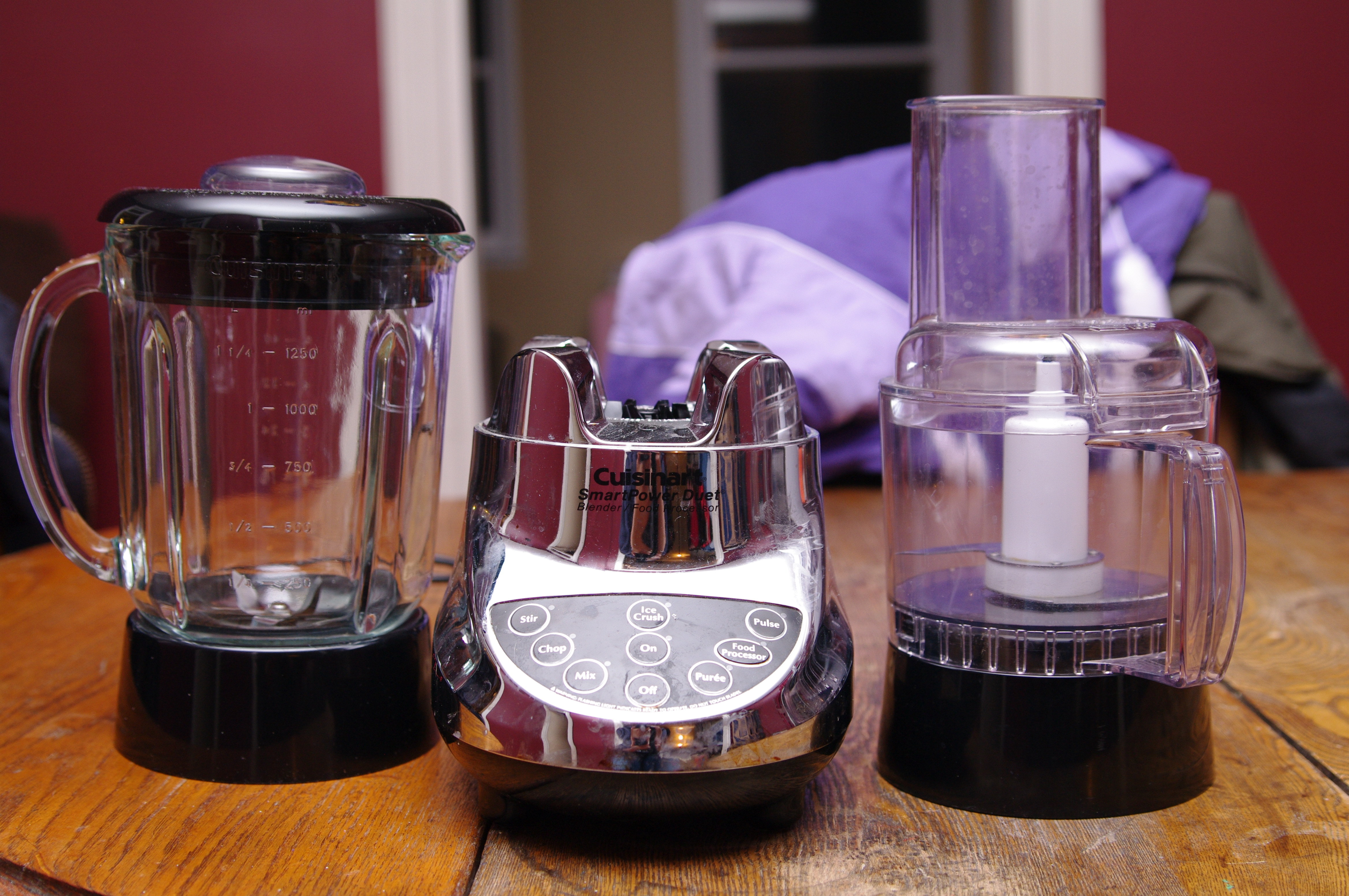 Cuisinart smartpower duet blender and food processor - Steven And I Got This Cuisinart Smartpower Duet Blender Food Processor As A Wedding Gift Back In 2007 We Got Some Good Use Out Of It Making Smoothies And