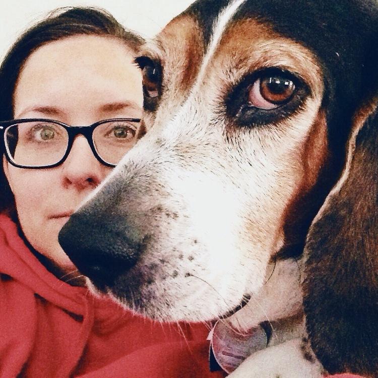 Hound dog selfie